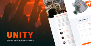 unity u2013 event fest u0026 conference html template by noxonthemes