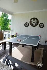 how big is a ping pong table diy ping pong table the idea room
