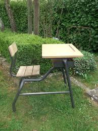 bureau d 馗olier ancien en bois 1 place pupitre d écolier pour une deco indus atelier 79 coté brocante