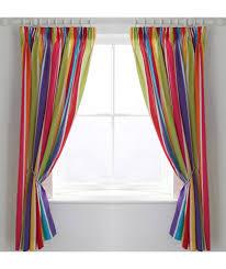buy colourmatch kids u0027 stripe blackout curtains 168 x 137cm at