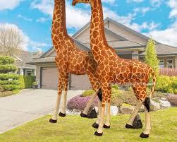 crafts giraffe sculpture garden ornaments simulation animal