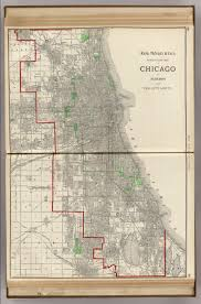 Chicago Street Map by Chicago And Suburbs David Rumsey Historical Map Collection