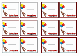 free printable curious george themed name tags themed name tags