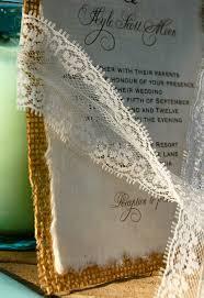 burlap wedding invitations diy lace and real burlap wedding invitation rustic barn