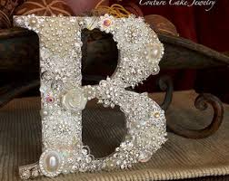bling wedding cake toppers couture cake jewelry monogram cake toppers by couturecaketoppers
