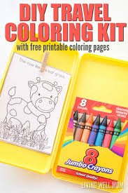 Easy To Make Toy Box by Diy Travel Coloring Kit For Kids With Free Printable Coloring Sheets