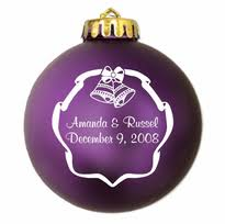 personalized ornament wedding favors