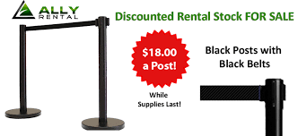 stanchion rental rent retractable belt stanchion barrier posts from ally rental