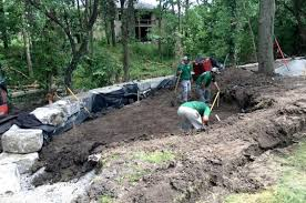 residential landscape drainage solutions kansas city lawn care