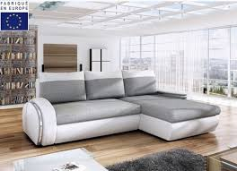 matière canapé canapé d angle convertible bi matière sharlie lestendances fr
