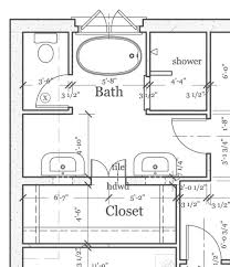 Dual Master Suites 8 X 12 Foot Master Bathroom Floor Plans Walk In Shower Possible