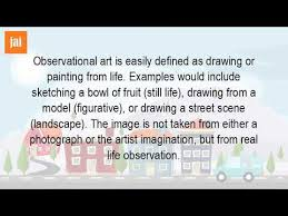 what is the definition of observation in art youtube