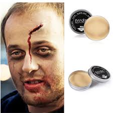 professional stage makeup cuts scar skin wax make up create stage effect