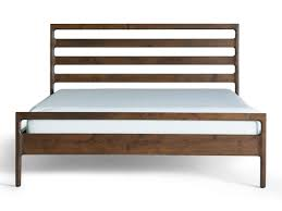 wooden bed frame abc carpet and home reclaimed wood bed frame