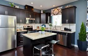 light granite countertops with dark cabinets granite countertops dark cabinets stainless steel appliances h