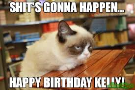 Birthday Meme Grumpy Cat - is it that time again happy birthday meme grumpy cat table