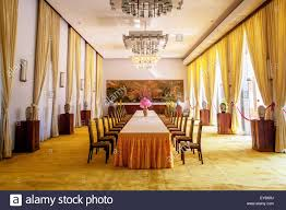 formal dining room in independence palace in ho chi minh city