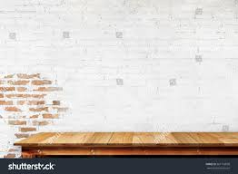 Wooden Table Empty Top Natural Wooden Table Retro Stock Photo 567163858