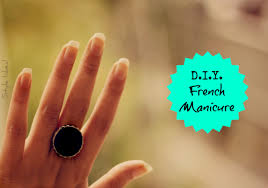 d i y french manicure style inked