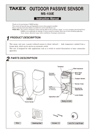 takex ms 100e instruction manual