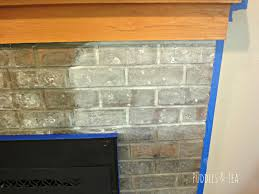 puddles u0026 tea white wash brick fireplace makeover