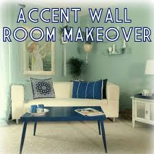 blue accent wall how to make over a room with an accent wall plus my living room