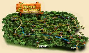 Treetop Canopy Tours by Chiang Mai Zipline Eco Tours Course Map