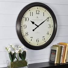 firstime 22 5 in round numeral plaques wall clock 10023 the