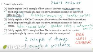 ap us history short answer example 1 us history khan academy