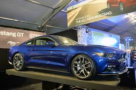 Gallery For Gt Light Blue by Photo Gallery 2015 Ford Mustang In Deep Impact Blue Mustangs Daily