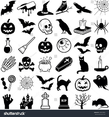 halloween icon collection vector illustration stock vector