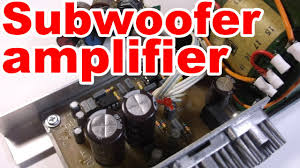 home theater subwoofer amplifier how to make home subwoofer amplifier youtube