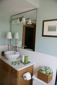 best images about downstairs bathroom final selections remodeled stanton bathroom vanity vessel sink mirror benjamin moore heavenly blue paint