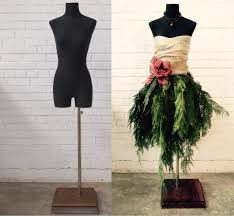 handmade dress form christmas tree with peacock feathers u0026