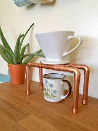 copper pipe pour over coffee stand