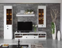 Tv Wall Furniture Daiquiri Modern Tv Cabinet And Display Units Combination In White