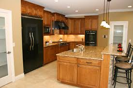 Tile Backsplash Ideas For Cherry Wood Cabinets Home by Natural Cherry Kitchen Cabinets With Backsplash Ideas Natural