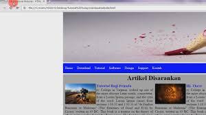 tutorial membuat web html sederhana membuat website sederhana html css part 7 11