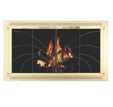Polished Brass Fireplace Doors by Zc Overlap Fireplace Doors