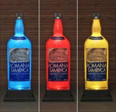 Led Light Bar Color Changing by Romana Sambuca Liqueur Italy Color Changing Bottle Lamp Bar