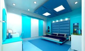 Fair  Cyan Bedroom Interior Design Ideas Of White And Cyan - Awesome bedroom design