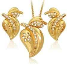 saudi arabia gold earrings buy 18k gold plated leaf design rhinestone necklace and earring