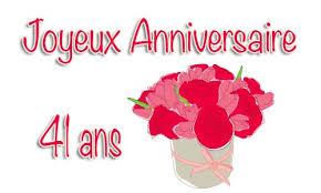 41 ans de mariage carte anniversaire mariage 41 ans bouquet