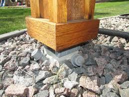 concrete deck footings spacing doherty house building code