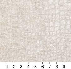 Upholstery Fabric St Louis Off White Textured Alligator Shiny Woven Velvet Upholstery Fabric