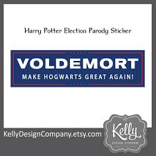 hogwarts alumni bumper sticker voldemort bumper sticker make hogwarts great again harry