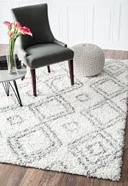 Area Rugs White Cozy Soft And Plush Moroccan White Shag Area Rugs 5