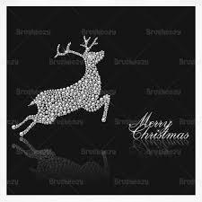 diamond studded reindeer christmas vector background download