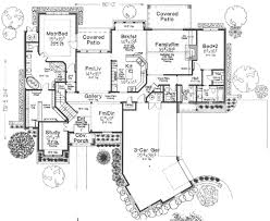European Home Floor Plans by European Style House Plan 4 Beds 3 50 Baths 3878 Sq Ft Plan 310 342
