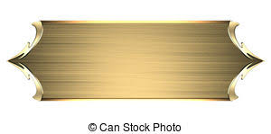 Gold Nameplate Clip Art Of Stone Wall Texture With Gold Nameplate With Gold